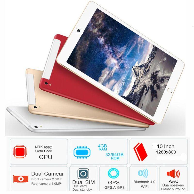 10.1 Octa Core 2018 Original powerful Android Tablet Pc 4GB RAM 32GB ROM WIFI 3G mobile phone call tablet dual SIM dual camera