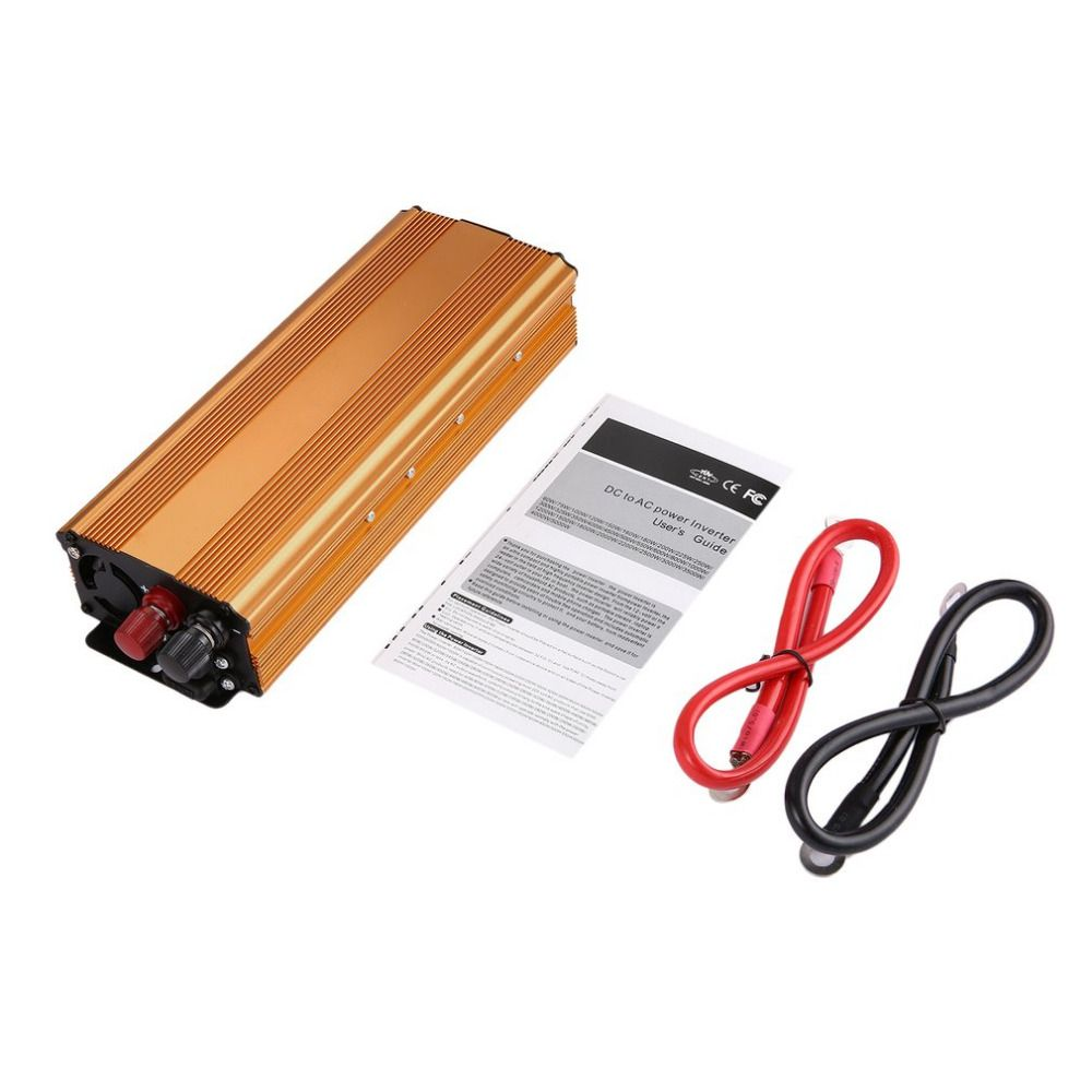 Professional 3000W Car Power Inverter DC12V to AC110V Automotive Car Power Supply Inverter with Multi-Protections