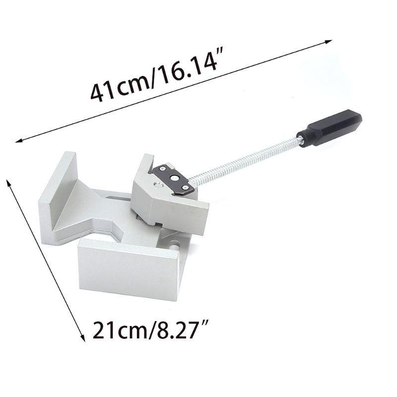 Pince à Angle droit à 90 degrés à poignée unique pince à souder pour outils de menuiserie en aluminium à deux axes