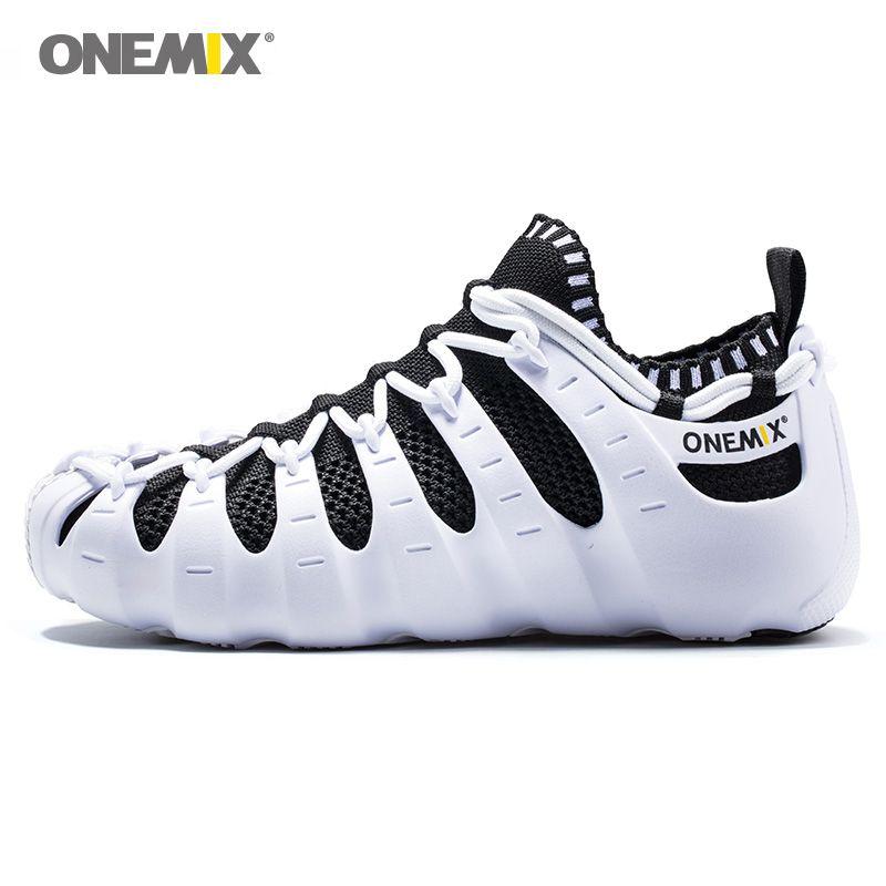 ONEMIX NEW Women Roma Walking Shoes For Men Outdoor Leisure Sandals Upstream Slippers Indoor Yoga Socks Running Sports Sneakers