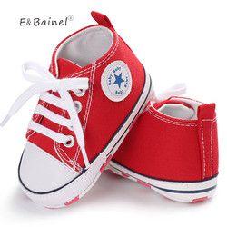 Nuevo lienzo zapatillas de deporte Zapatos de los muchachos zapatos recién nacidos bebé Walker Infant Toddler Soft bottom antideslizante primeros caminante