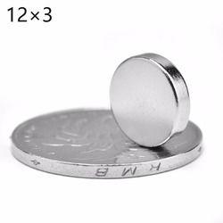 Comercio al por mayor de calidad superior 10 unids 12x3mm disco redondo imanes de tierras raras de neodimio imán N52 12 * 3mm