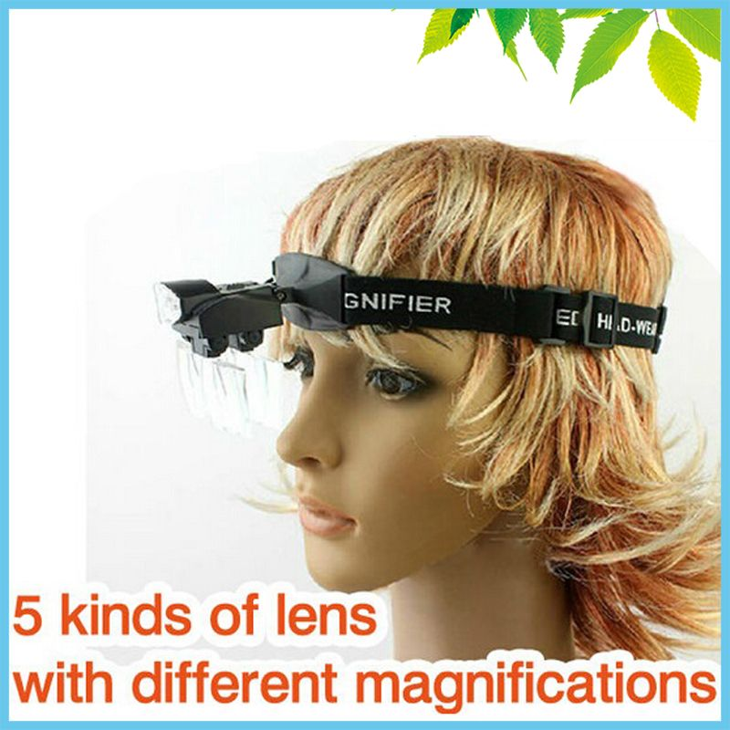 Chef Visor Loupe LED Portable Bandeau Loupes Chirurgicale Dentaire Loupe Loupe 1X ~ 6X