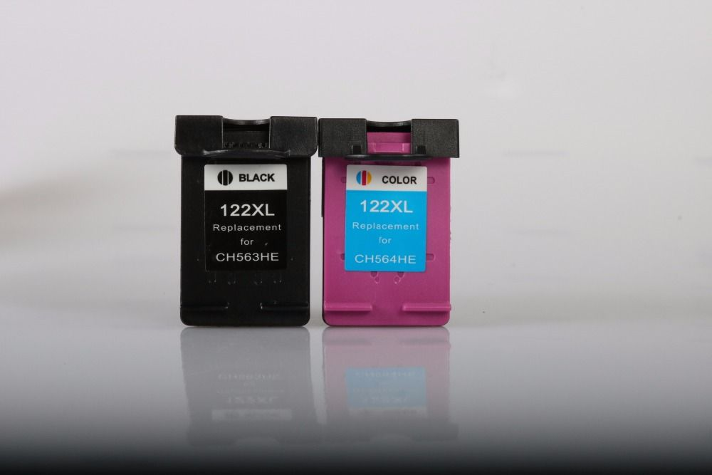 2pcs Ink Cartridge Compatible for HP 122XL for HP Deskjet 1000 1050 1010 1510 2000 2050 2050s 2540 3000 3050A 3052A 3054 Printer