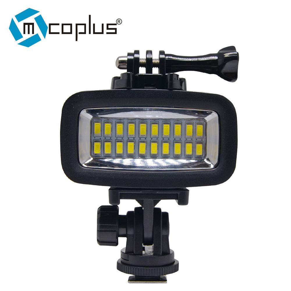 Venidice Sous-Marine 40 m Plongée Lampe Étanche Vidéo LED Lumière pour Caméra DV Gopro SJCAM SJ4000 SJ5000, XIAOMI, 700LM SL-100 Acti