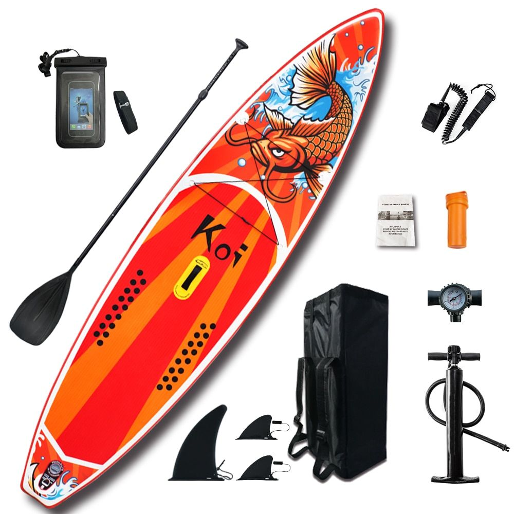 Aufblasbare Stand Up Paddle Board Sup-Board Surfbrett Kajak Surf set 11'6 x33''x6''with Rucksack, leine, pumpe, wasserdichte tasche