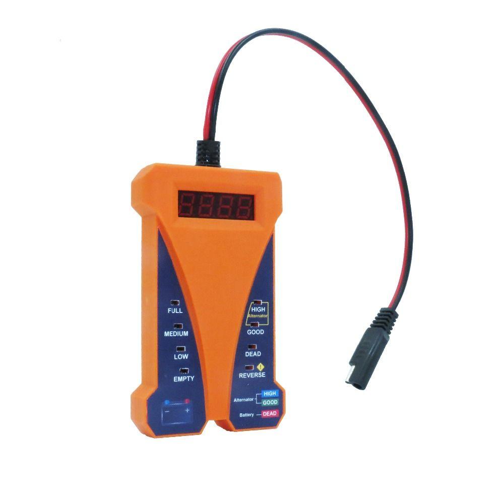 MOTOPOWER 12 V Numérique Batterie De Voiture Testeur Voltmètre De Charge Système Analyseur LCD LED affichage