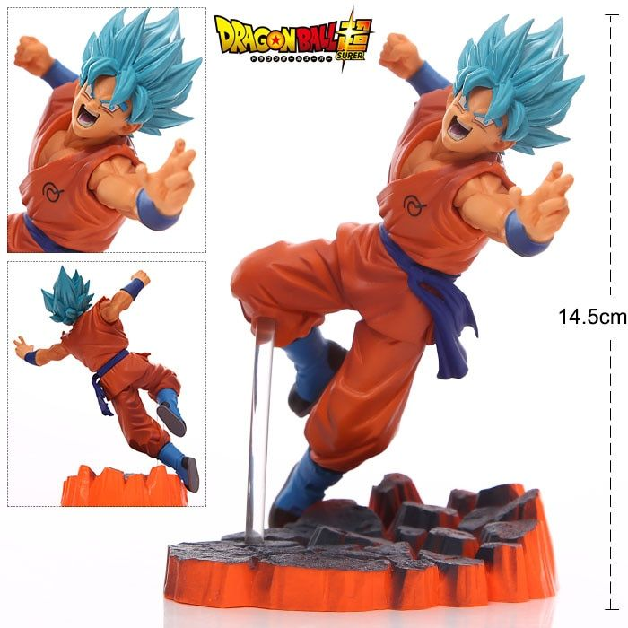 Dragon Ball Z Blue Super Saiyan Goku Son Gokou PVC Action Figures Model Collection Toys Dolls Gifts #F