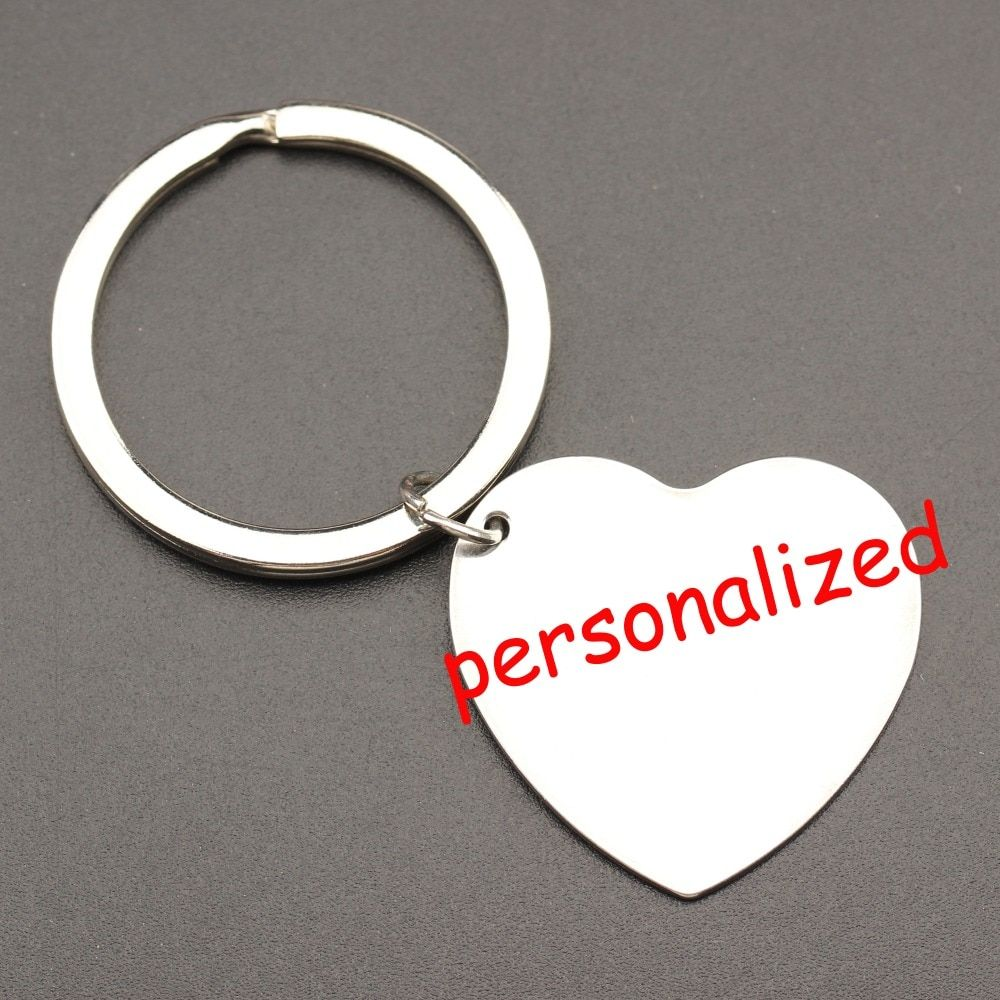 250pcs personalized keychain Engraved Keyring Key tag Keys holder Can be personalized any language