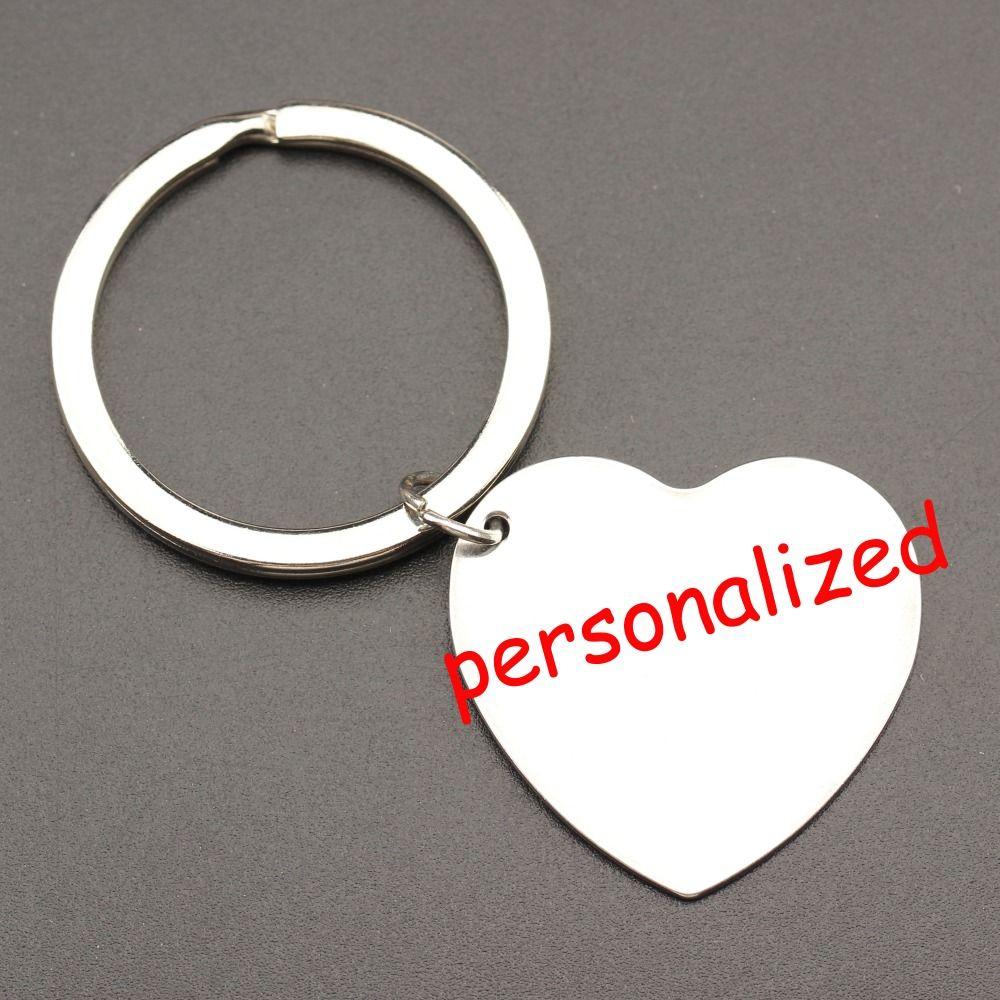 250pcs personalized keychain Engraved Keyring Key tag Keys holder Can be personalized any language