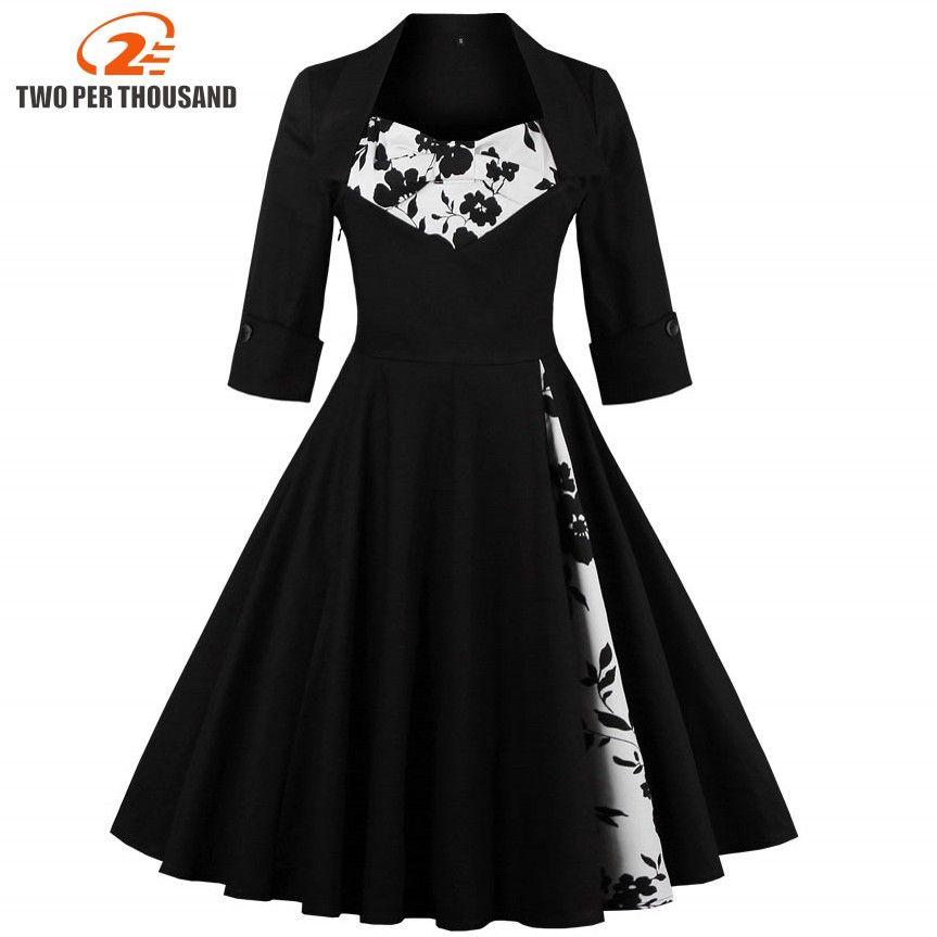 3XL 4XL 5XL Plus Taille Vêtements Pour Femmes Pin UP Robes Printemps Automne Rétro Casual Parti Robe Rockabilly 50 s 60 s Vintage Robes
