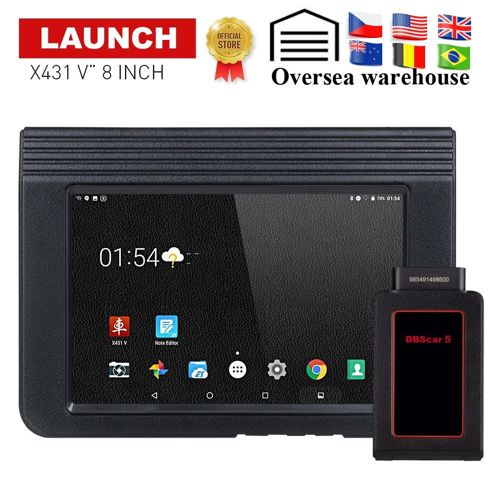 LAUNCH X431 V Auto/Car diagnostic tool Support Bluetooth Wifi X-431 V 8 inch Full System OBD2 Scanner with 2 year free update