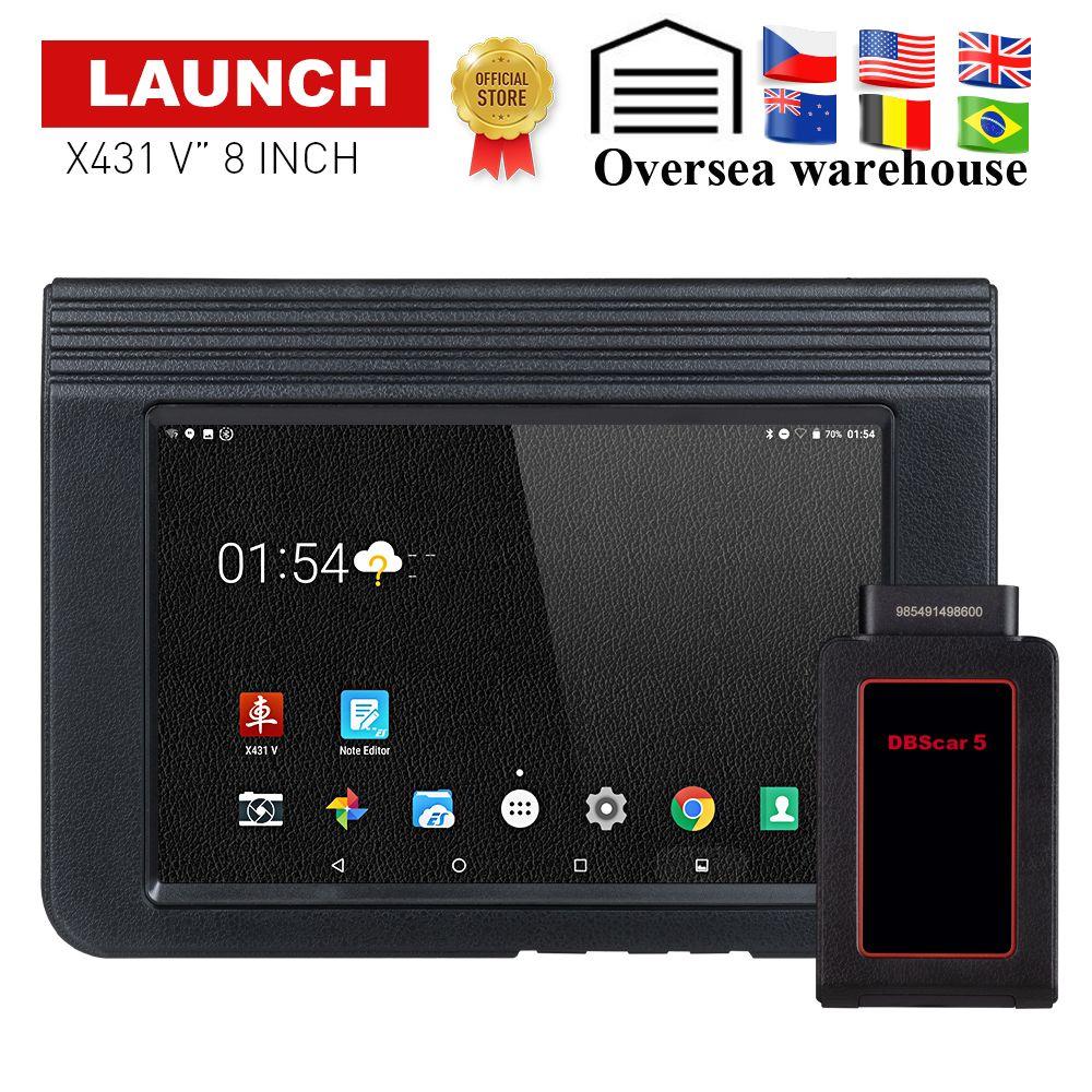 STARTEN X431 V Auto/Auto diagnose werkzeug Unterstützung Bluetooth Wifi X-431 V 8 zoll Volle System OBD2 Scanner mit 2 jahr freies update