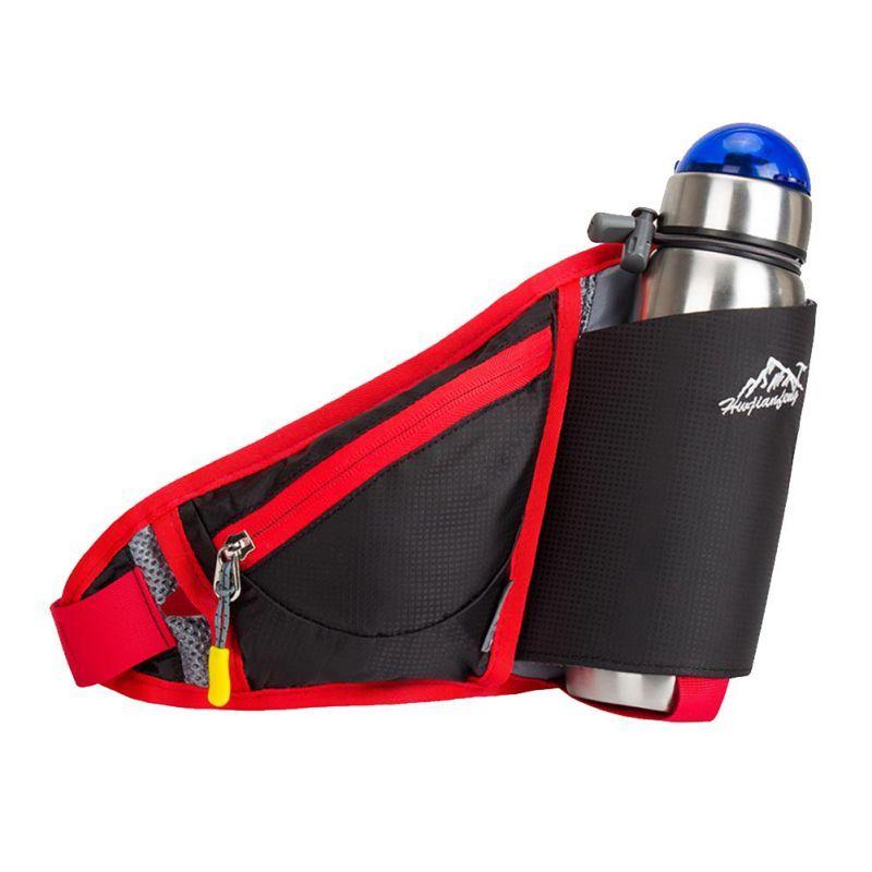 Outdoor Running Belt Bag Waist Bag Men Women Waist Bags Sports Water Bottle Holder Backpack Stuff Waist Pack Hiking Pockets Bag