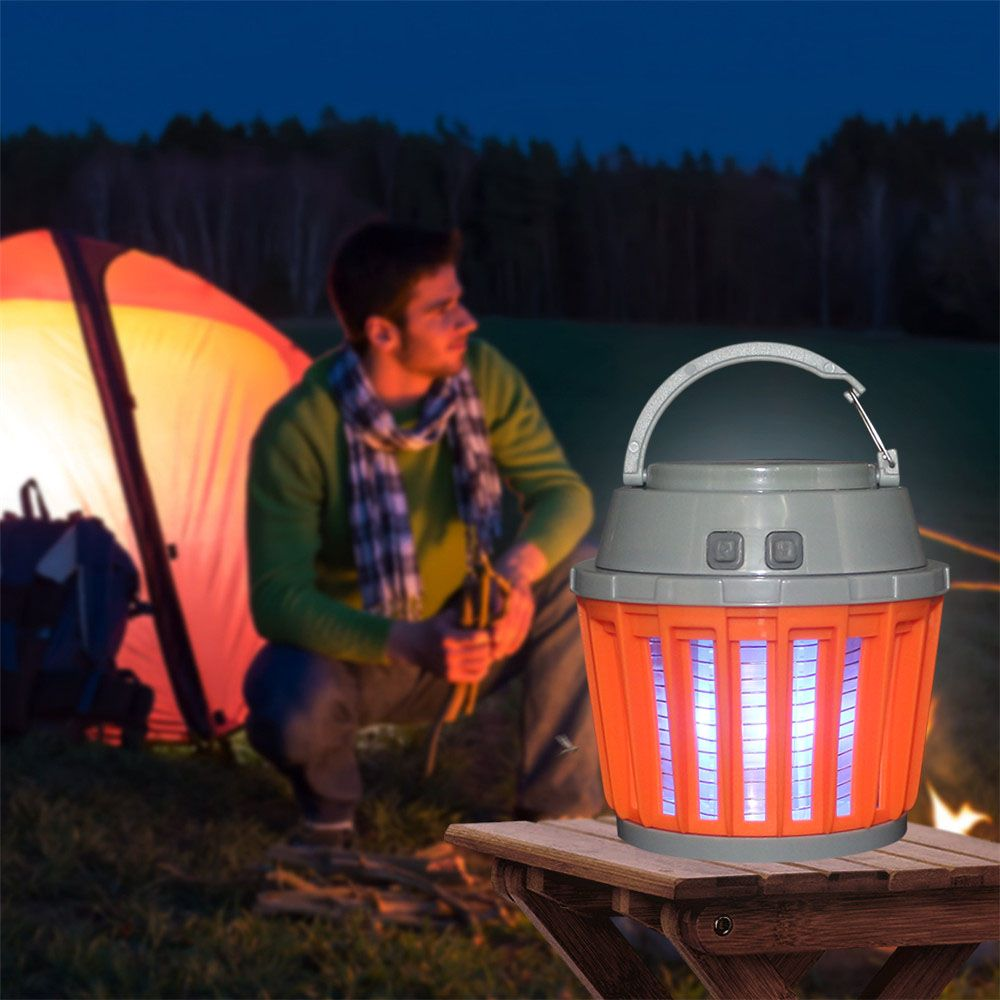 Tanbaby Portable Camping <font><b>Lantern</b></font> Light Mosquito Killer Portable Tent Light IP65 Waterproof with 2000mAh Rechargeable Battery