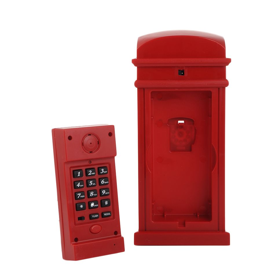 Red telephone booth cabinet for the home telefon Land Line 1 Home Desk Telephone telephone Corded phones Newest telefone1PCS