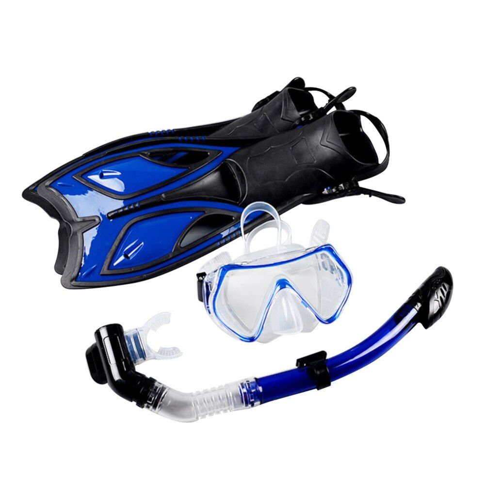 Scuba Diving Equipment Sets Underwater Diving Mask Full Dry Snorkeling Gel Myopia Diving glasses Diving Mask+Snorkel+Fins
