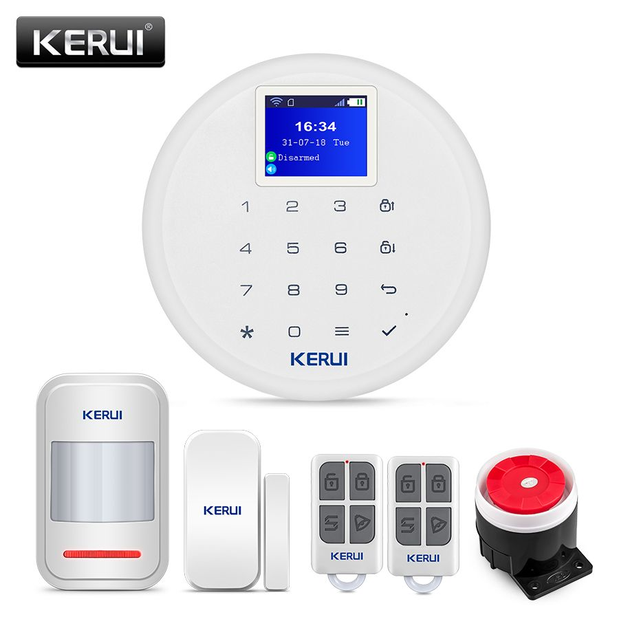 New KERUI W17 Android ios Control GSM WiFi Home Security Alarm System with Wireless Door Window Sensor PIR Motion Detector