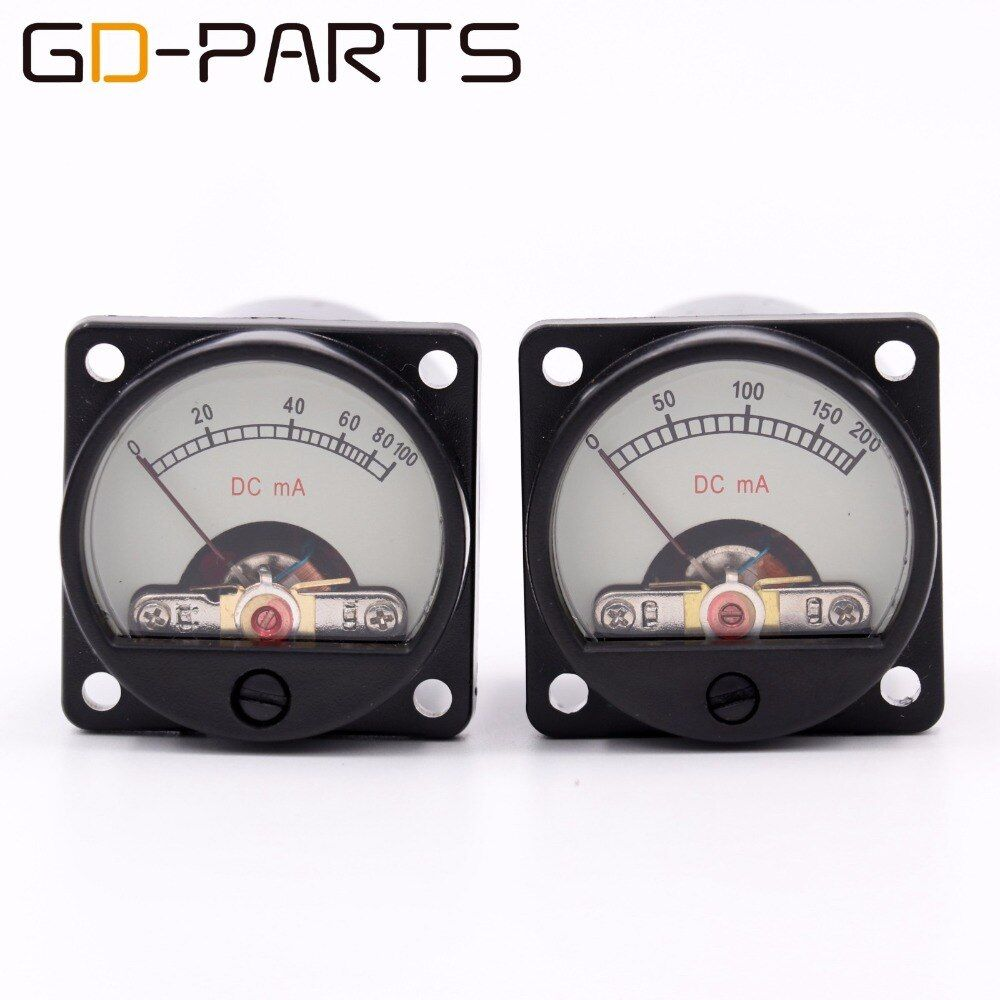 GD-PARTS 35mm DC100mA DC200mA Panel Meter Ampere Meter With 12V Warm Back Light For Vintage 300B KT88 EL34 Tube AMP