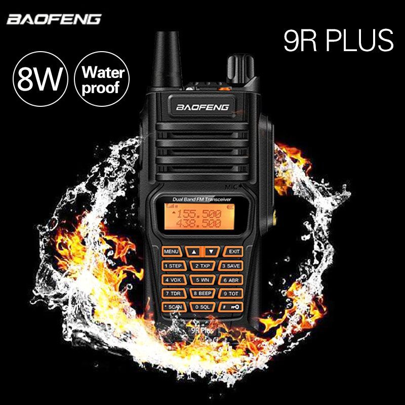 Baofeng UV-9R Plus 8W Powerful IP67 Waterproof Walkie Talkie Two Way Radio Dual Band Handheld 10km long range BF UV 9R Cb Radio
