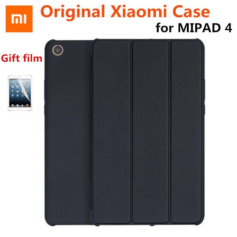 2018 New Slim Magnet Original Xiaomi MiPad 4 8.0 mi pad 4 Case Capa de Couro PU + PC Smart flip Auto Wake-Sleep Stand Cover+Film