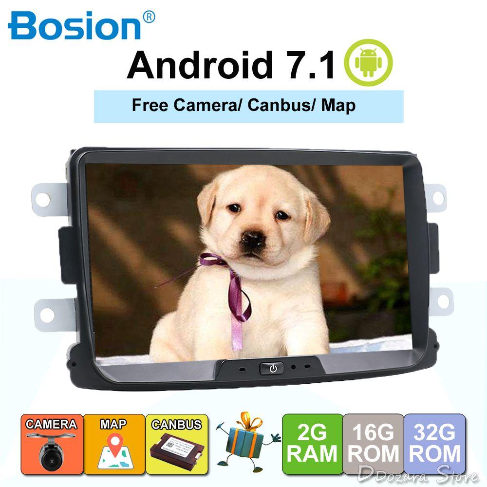 Bosion Car Multimedia player Android 7.1.1 Autoradio 2 Din For Dacia/Sandero/Duster/Renault/Captur/Lada/Xray 2/Logan 2 USB DAB