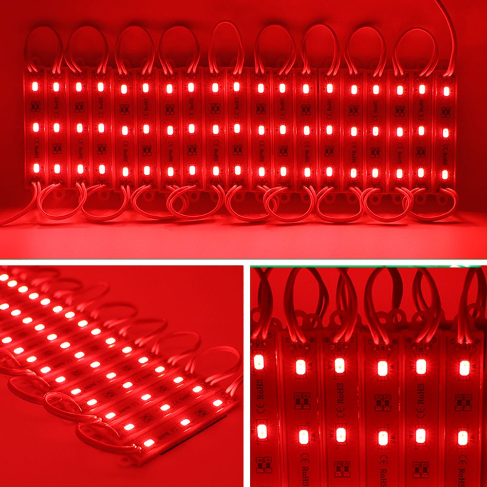 20pcs 12V 5630 SMD 3 LED Module Lights Waterproof Lamp 3 years warranty for home garden xmas wedding party decoration or letter