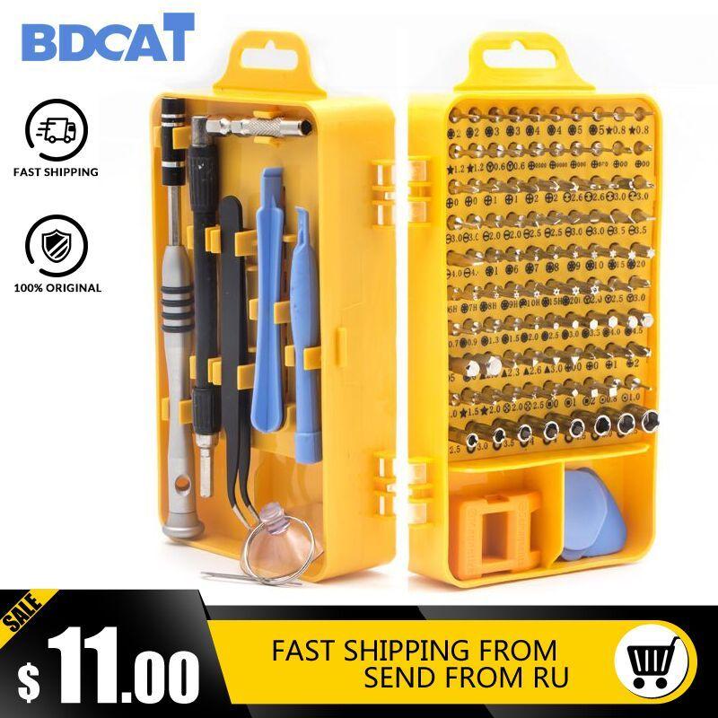 BDCAT Drop 108 en 1 jeu de tournevis multi-fonction ordinateur PC téléphone portable numérique appareil électronique réparation main outils à la maison Bit