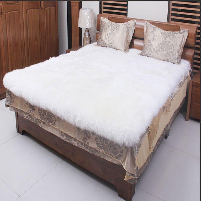 White Sheepskin Rug Real Fur Blanket Decorative Blankets Floor Sheepskin Rugs and Carpets For Living Room Fur Carpet 200x240cm