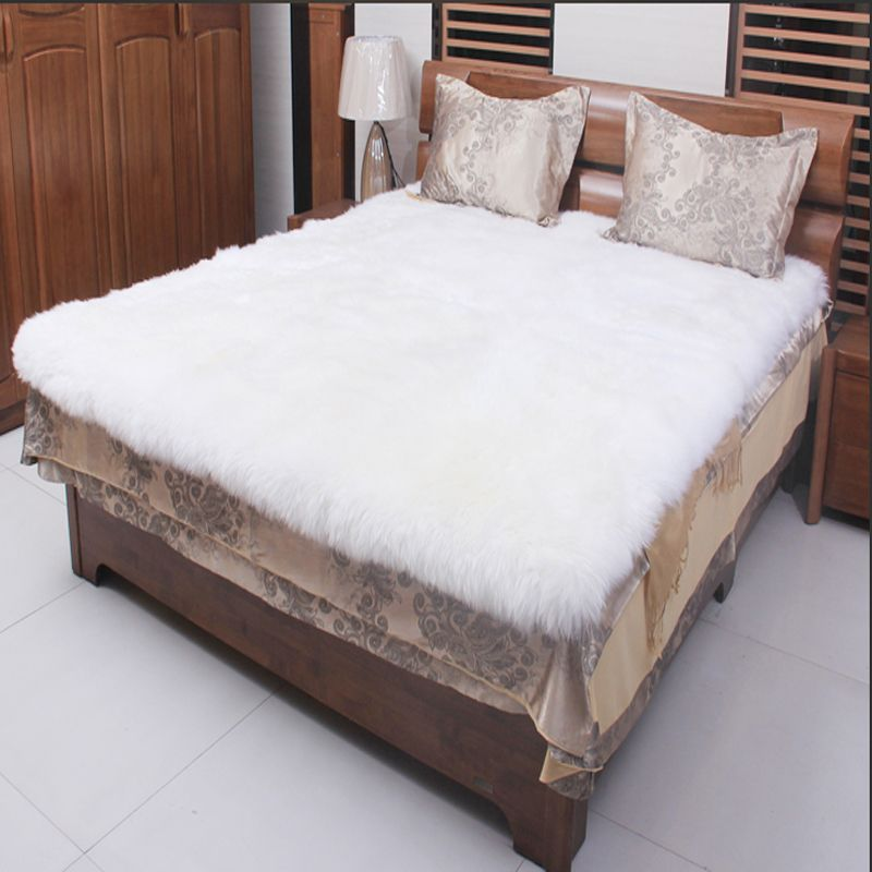 White Sheepskin Rug Real Fur Blanket Decorative Blankets Floor Sheepskin Rugs and Carpets For Living Room Fur Carpet 200x240cm