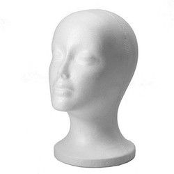 Female Styrofoam Foam Mannequin Manikin Head Model Hat Glasses Display Foam Mannequin Head Model Hat Wig Display Stand Rack
