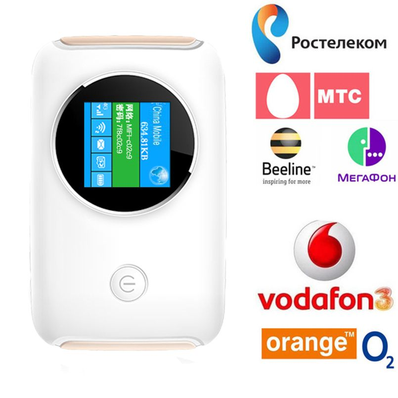 4G Lte Pocket Wifi Router Car Mobile Hotspot Mifi Unlocked Modem Wireless Broadband for Apple iPhone Samsung Huawei Xiaomi Phone