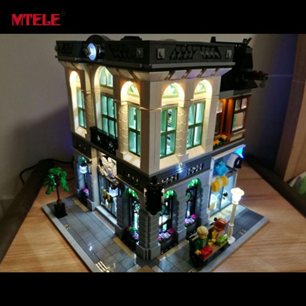 MTELE Brand LED Light Up Kit For Creator Brick Bank Building Block Lighing Set Compatible With Lego 10251