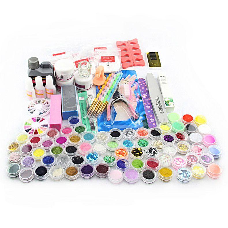2016 maniküre-set Acryl Pulver Flüssigkeit Pinsel Glitter Pinzette Primer Datei Falsche Nagel-kunst-set Tipps Polnischen Pinsel Set