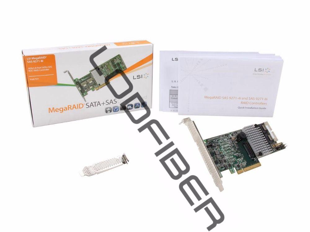 LODFIBER pour LSI Logic LSI00330 MegaRAID SAS 9271-8i 8 Port 6 Gb/s PCI Express 3.0 1 GB DDR3 Seul Contrôleur carte