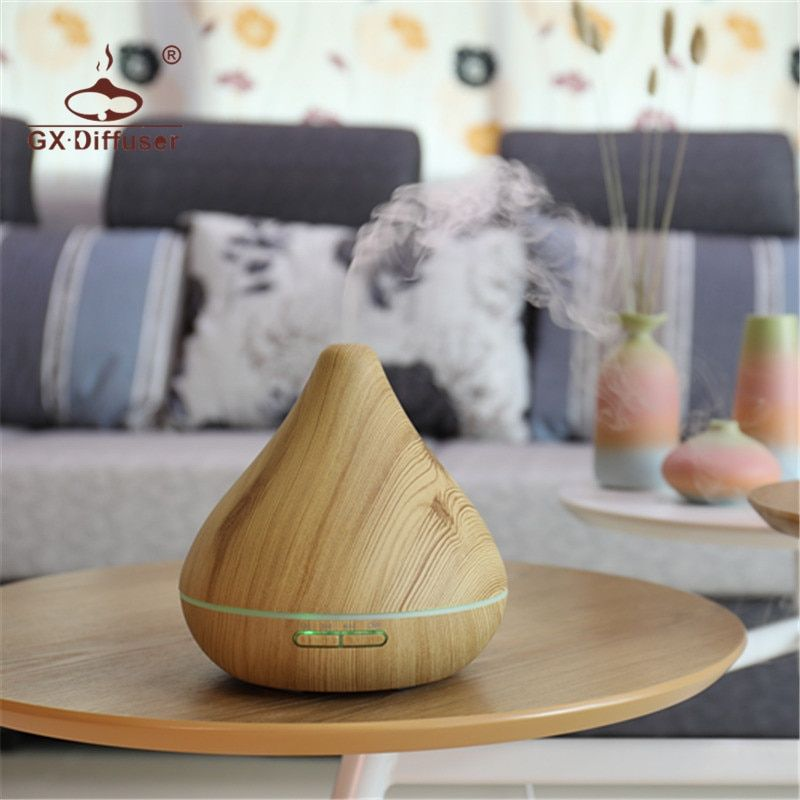 GX.Diffuser Light Wood Aroma Diffuser Essential Oil Diffuser Aroma Lamp Aromatherapy Electric Air Humidifier Mist Maker For Home