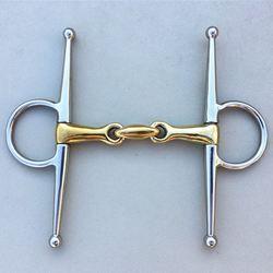 Horse Bit 15cm Brass Mouthpiece Snaffle Bit Ring Snaffle Horse Equipment