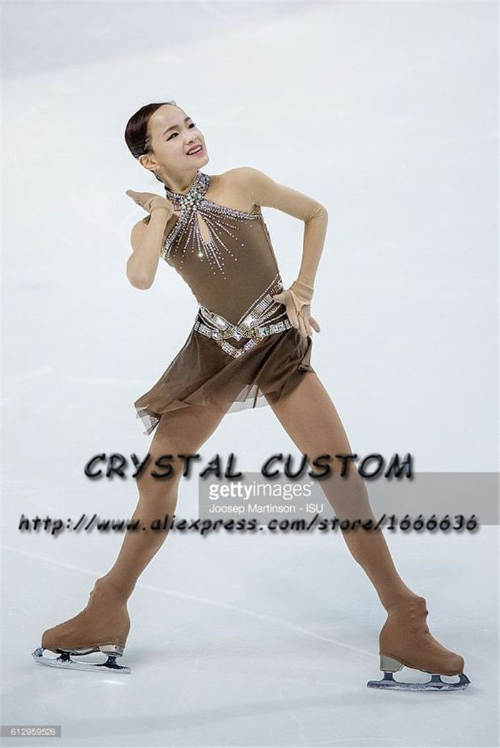 Crystal Custom Figure Skating Dress Girls New Brand Ice Skating Clothes For Competition DR4691