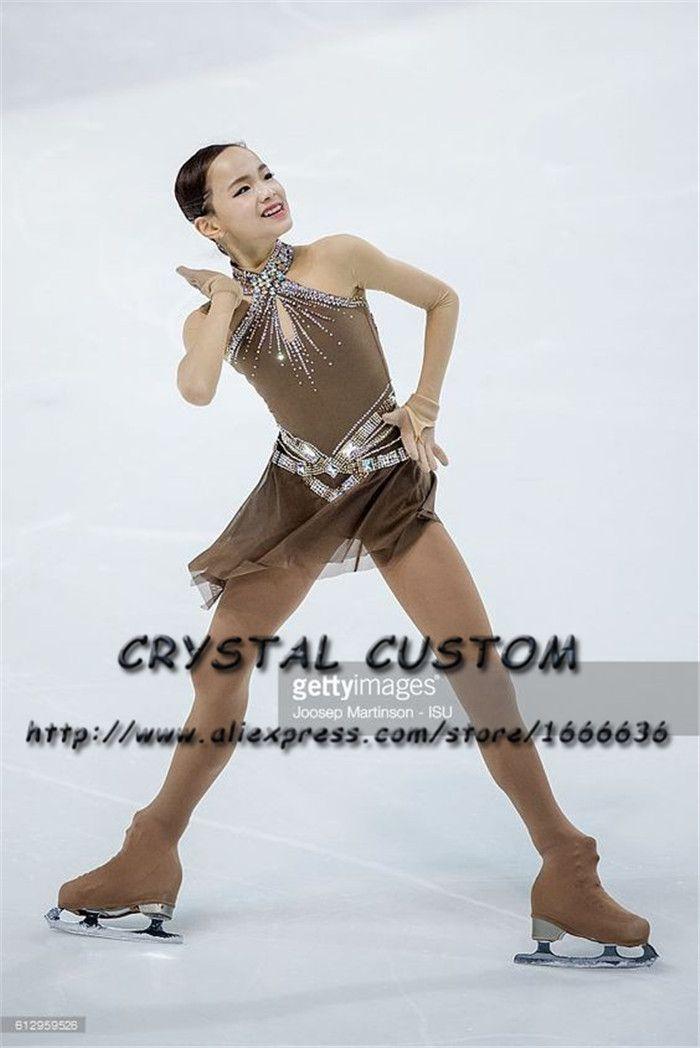 Kristall Benutzerdefinierte Eiskunstlauf Kleid Mädchen Neue Marke Eislaufen Kleidung Für Wettbewerb DR4691