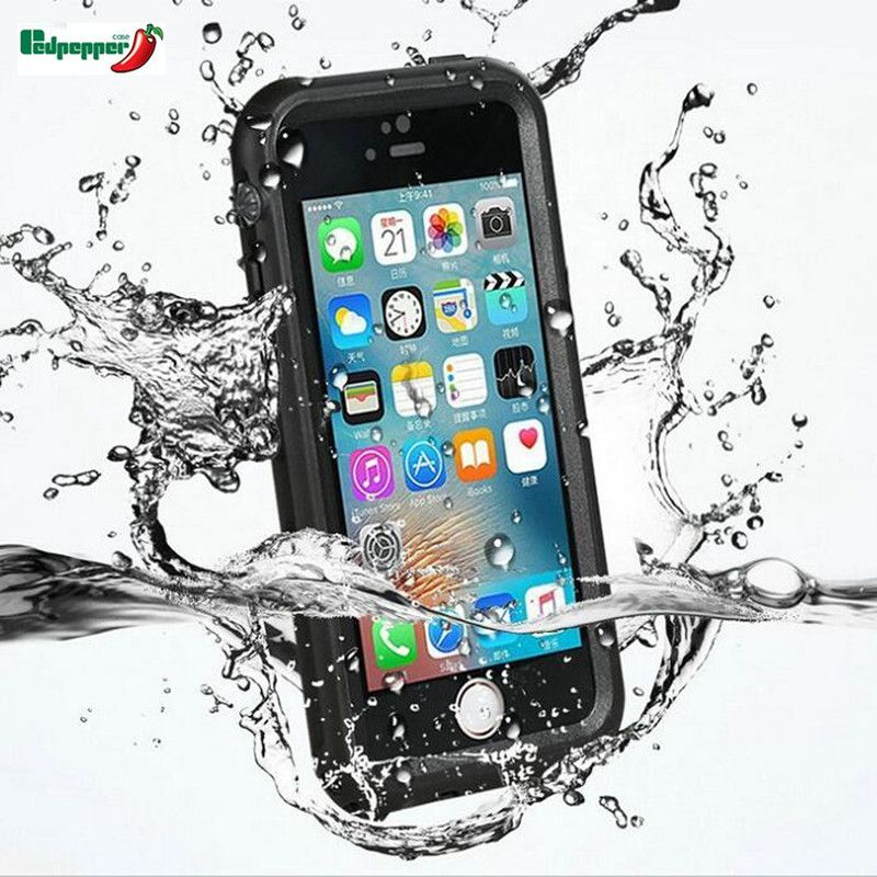 Original Full Sealed Waterproof Shockproof Dirtproof Touch ID Diving Underwater <font><b>Matte</b></font> Case For iphone X 8 7 7 Plus Cover Shell