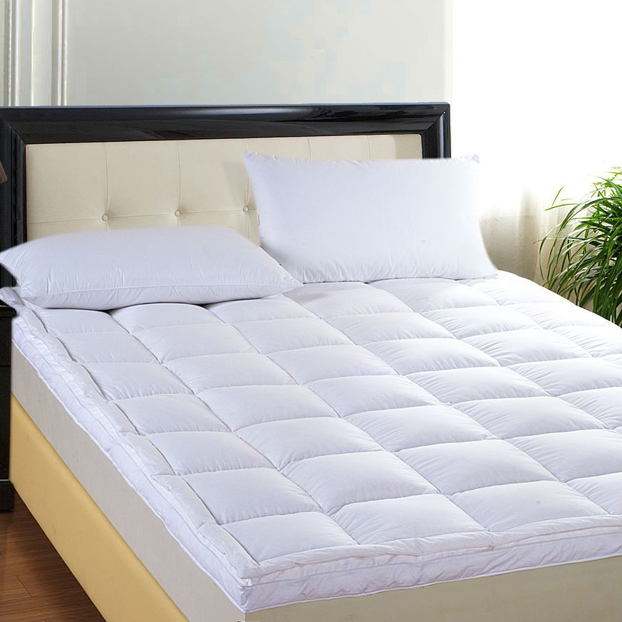 Peter Khanun Heiße Verkäufe Marke Design Weiße Ente Unten Gans Feder Füllstoff Bett Matte 100% Baumwolle 233TC Doppel Schichten Matratze 016