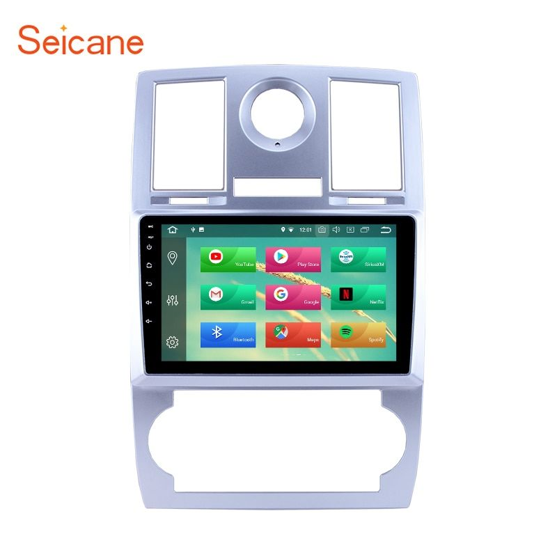 Seicane Android 8.1/8.0 HD 1024*600 9 inch Car GPS Navigation System Auto Radio For 2004 2005 2006 2007 2008 Chrysler Aspen 300C