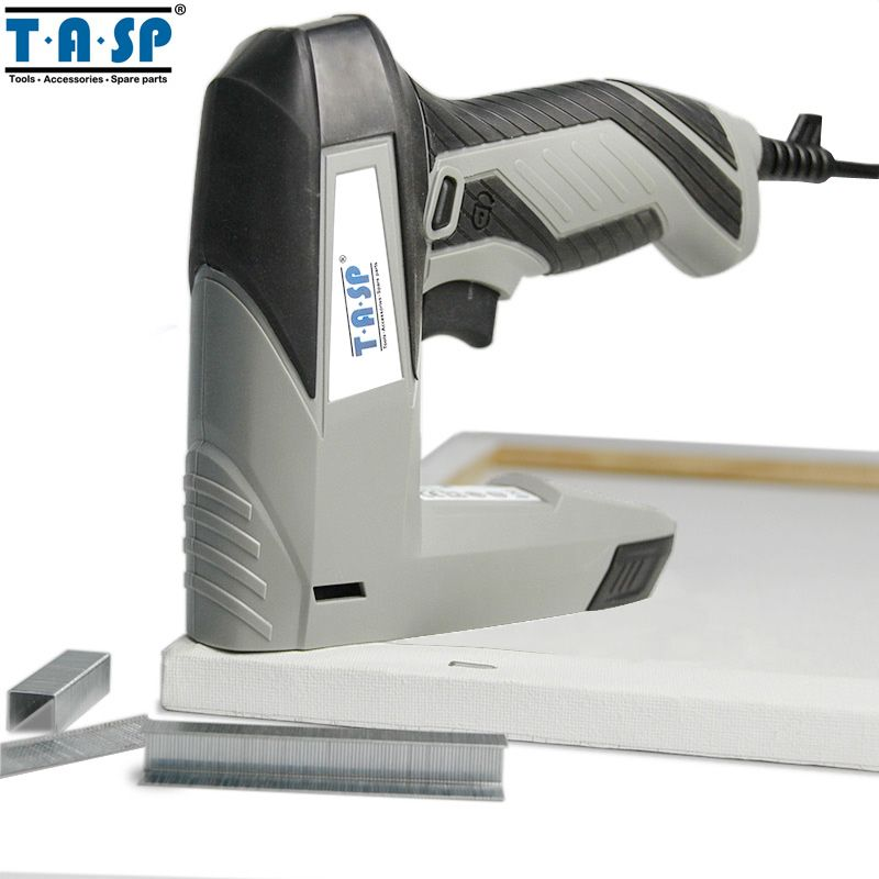 TASP 220V 45W Electric Stapler Staple Nail Gun Tacker for Woodworking Power Tools