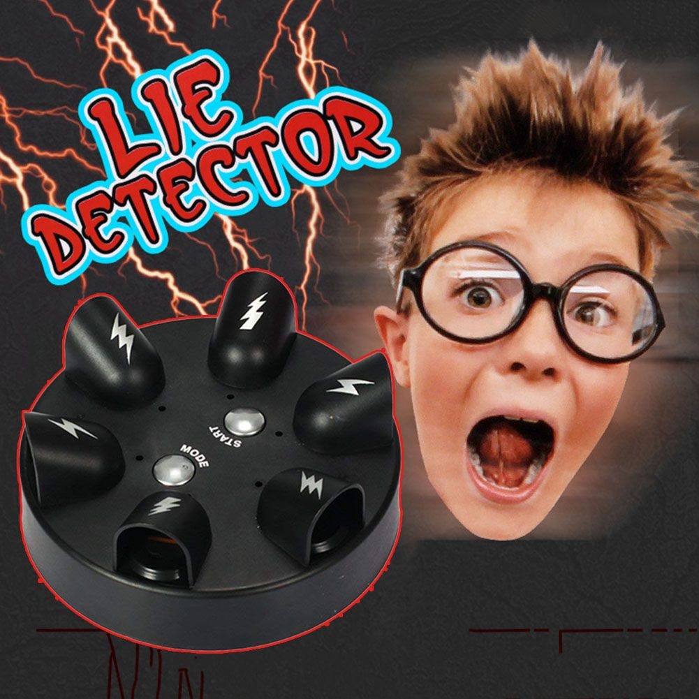 Shocking Roulette Lie Detector Electric Polygraph Test Finger Toy Party Drinking Game S7JN