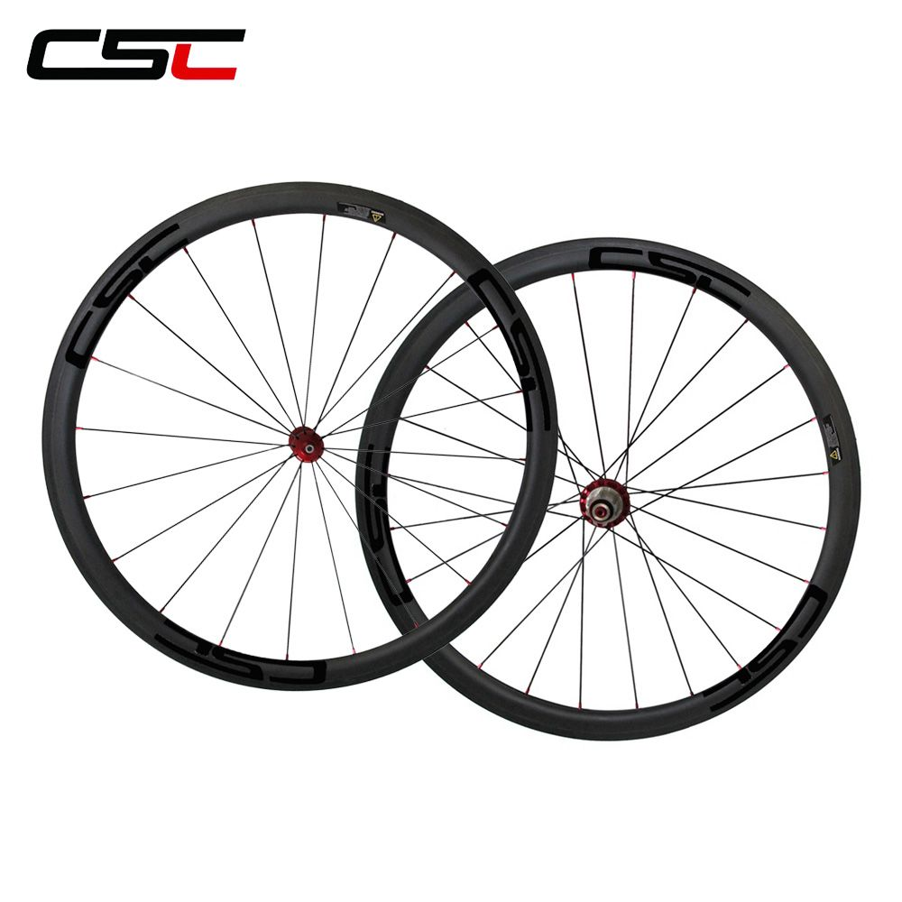 CSC U shape Straight pull Powerway R36 hub 700C full carbon 38mm clincher wheels with 25mm width sapim pillar 1420 cn 424 spokes