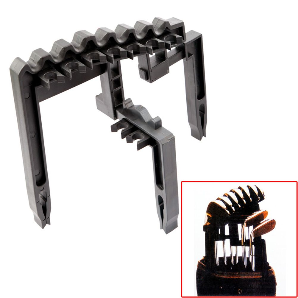 ABS 9 Iron Golf Club Organizer Shafts Holder Stacker Fits Any Size of Bags Golf Iron Holder FREE SHIPPING (Black)