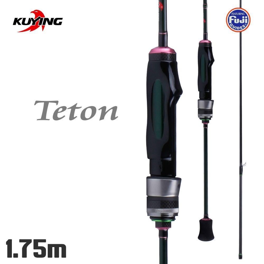 KUYING Teton 1,75 mt Spinning Stream Weiche Angeln Locken Stange Pole-Stick Cane Stangen Carbon FUJI Teile 0,3g- 3g Licht Schnelle Geschwindigkeit Action