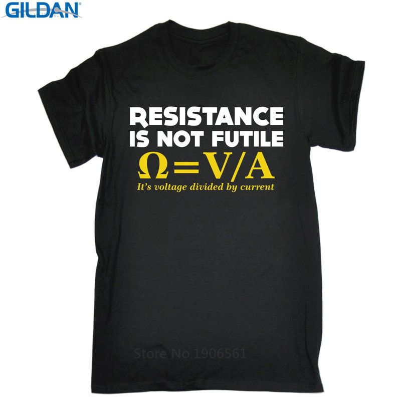 Cool Shirt Designs  Men'S Short Sleeve Funny Crew Neck Resistance Is Not Futile T Shirt