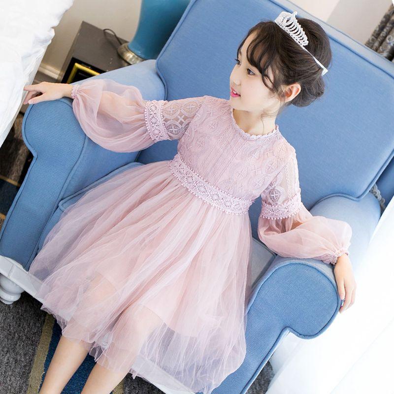 2019 nouveau Costume d'été filles robe de princesse enfants vêtements de soirée enfants en mousseline de soie robes de dentelle bébé fille fête robe de perle