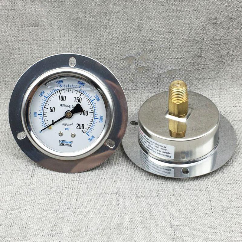 Manomètre numérique de bord de ceinture axiale de YE-60ZT, compteur de gaz de colonne d'eau de mètre de pression micro 15/150/250 kg hydraulique avec l'huile